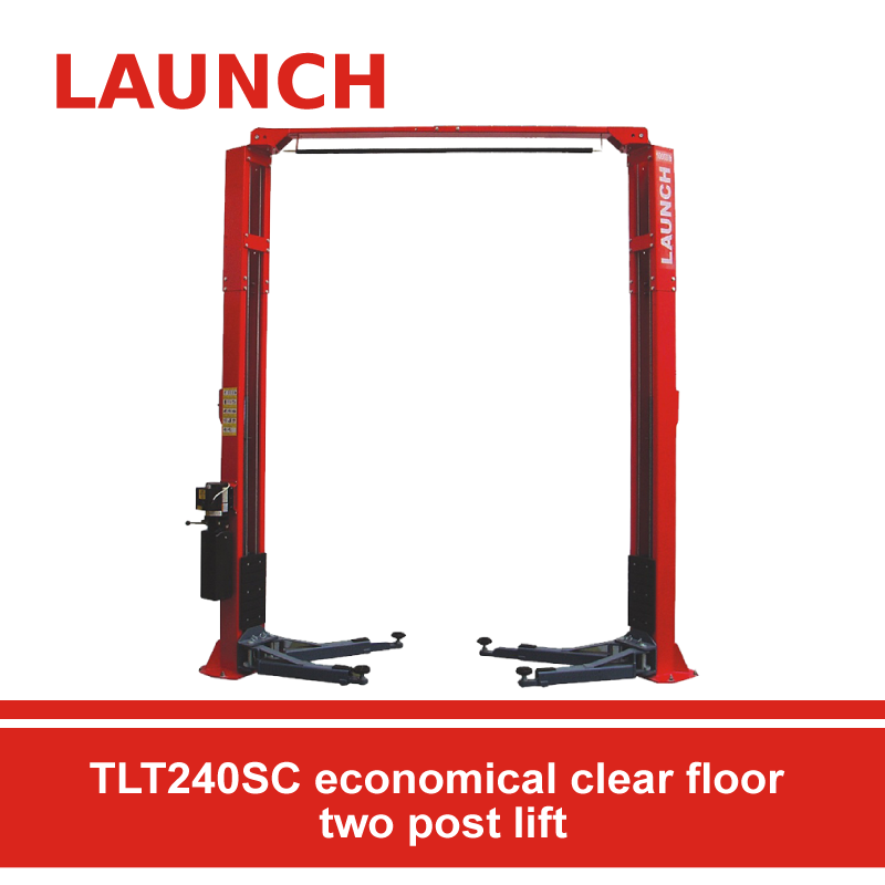 TLT240SC economical clear floor two post lift
