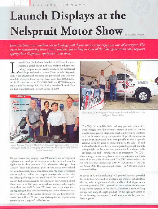 Launch Displays At The Nelspruit Motor Show