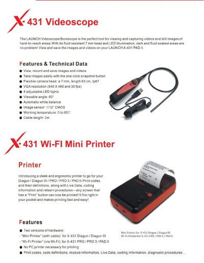 Video Scope & Wifi Mini Printer
