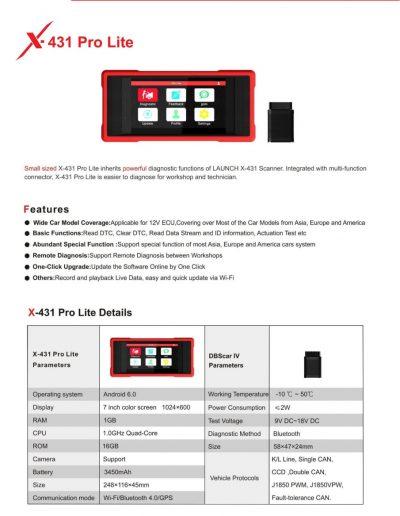 X431 Pro Lite